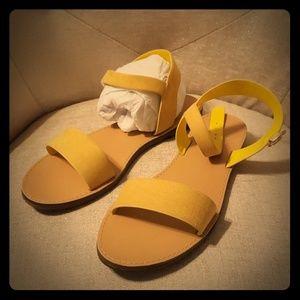 Mustard yellow sandals